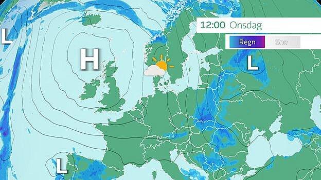 Højtrykket holder lavtrykkene på afstand og sikrer os det flotte vejr.